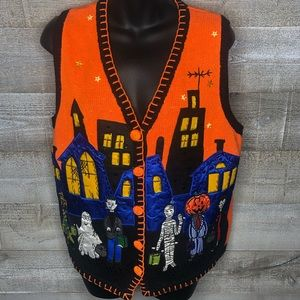 Basic Editions Halloween haunted house vest